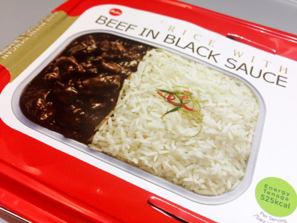 Rice with Beef in Black Sauce - AirAsia In-flight Meal